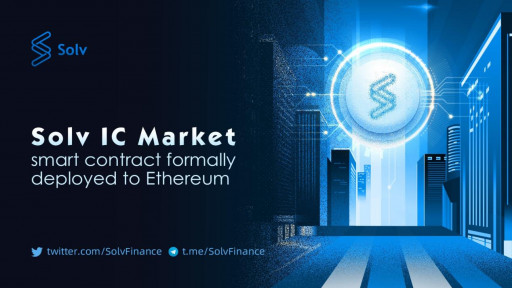 Solv IC Market Smart Contract Launches on the Ethereum Mainnet