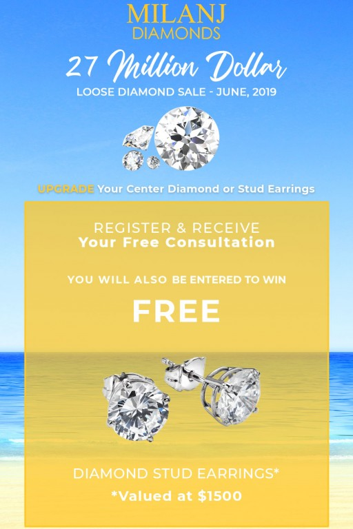 MILANJ Diamonds Hosting Two Promotions on Diamond Jewelry All Month Long