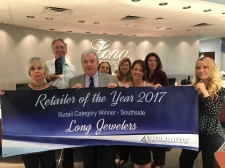 Long Jewelers Named 2017 Retailer of the Year