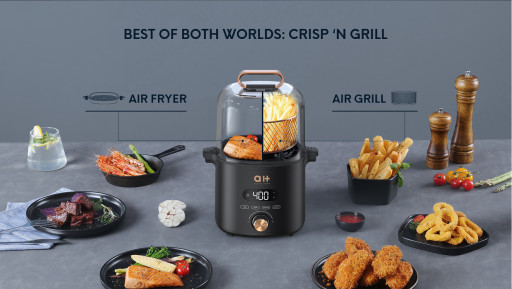 Aukeyhome Announces Launch of CrispX - Revolutionary Smart Air Fryer + Grill Cooking Solution