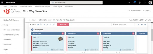 Virto Kanban Online: Now for Modern SharePoint Sites