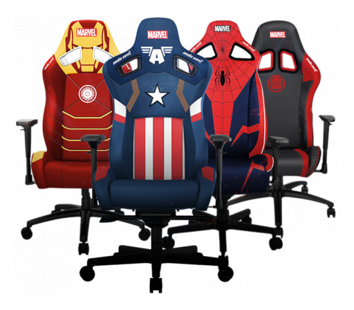 The World's Leading Gaming Chair Brand, AndaSeat, Launches Its Avengers Marvel Gaming Chairs