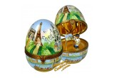 Paris Monuments Egg with Artist inside Limoges Box | LimogesCollector.com
