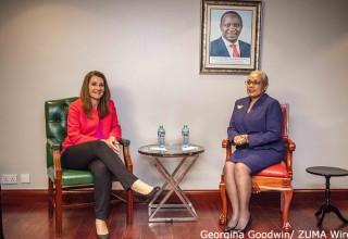 Melinda And Kenya's First Lady Margaret Kenyatta - Nairobi, Kenya