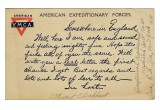 Postcard with pre-printed message for the military to send home