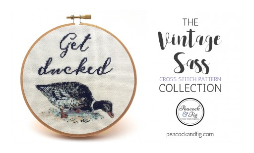 Peacock & Fig Introduces a Cheeky Modern Twist on Cross Stitch With the Vintage Sass Collection