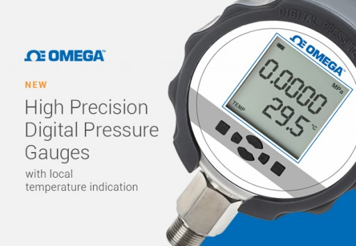 OMEGA Releases Its New Line of High Precision Digital Pressure Gauges