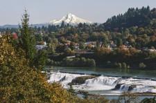 Willamette Falls and Mt. Hood in Mt. Hood Territory
