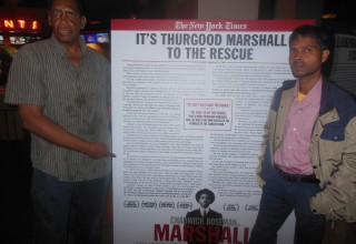 "Dr. Rajeev Kumar and Anthony ""Amp"" Elmore attend the Movie ""Marshall"""