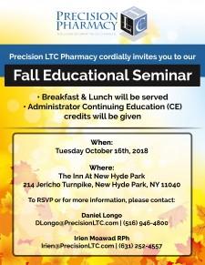 Precision LTC Pharmacy Seminar Flyer