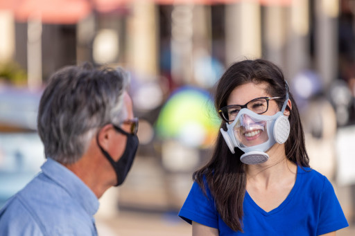 Cool, Comfortable, and Optically Clear Mask By Omni Labs Protects With 99.997% Filtration