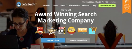 PageTraffic Wins Best SEO Company Award by PromotionWorld