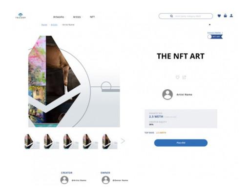Ensuring NFT Authenticity, Global Art Marketplace 'TRiCERA ART' Releases NFT Art Transaction System