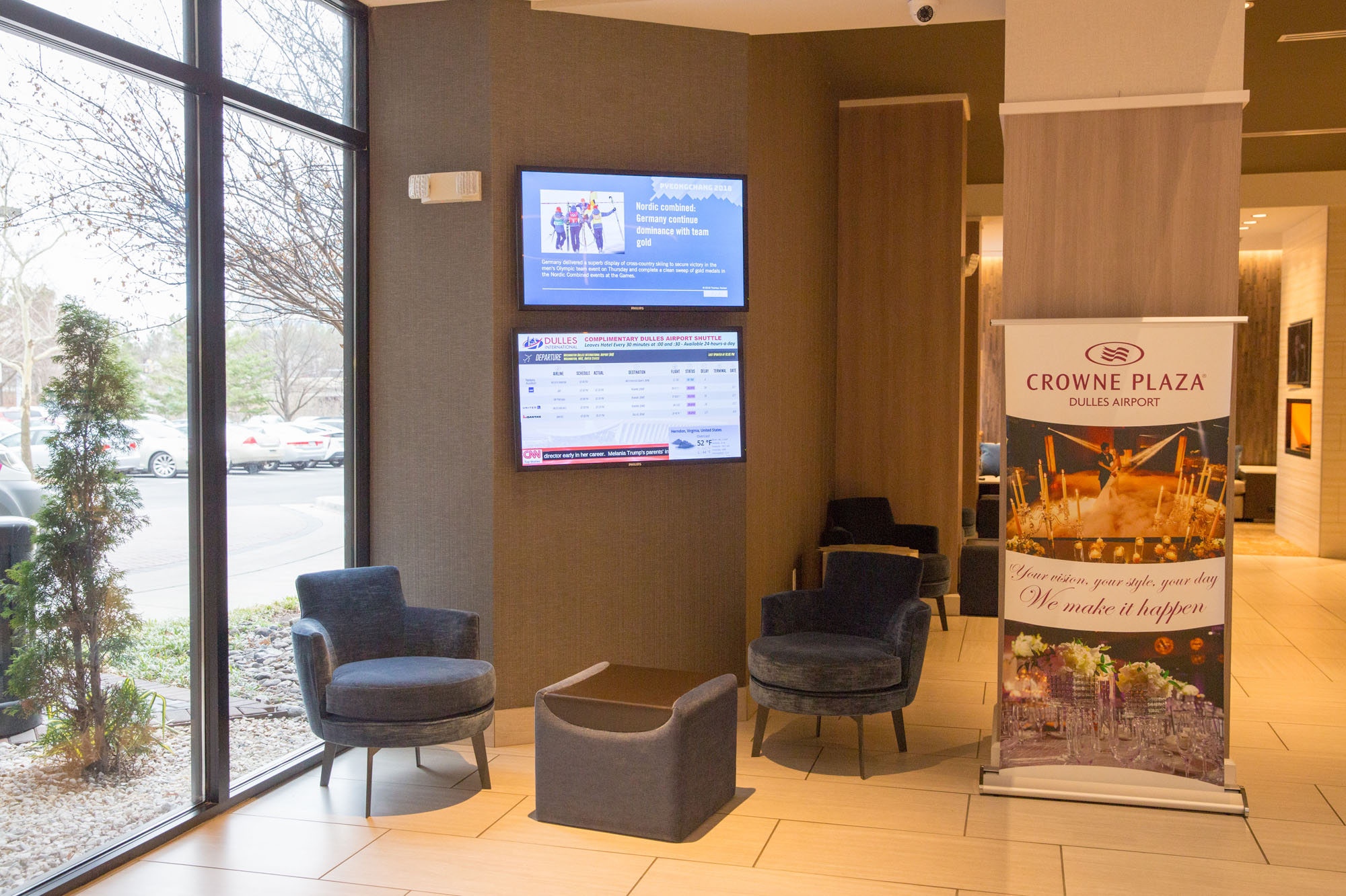 Crowne Plaza Dulles Conference Spaces Get a Digital Signage