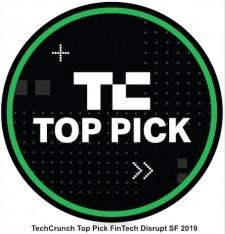 Award Badge for Top Pick for FinTech Disrupt SF 2019 Award