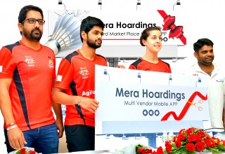 Mera Hoardings Mobile APP launched By Carolina Marin