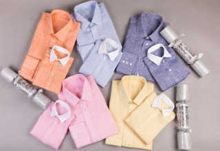 Celebrated British designer, Shahpari, launches Gatsby's - custom shirts for fathers and sons.