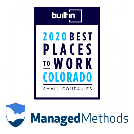 ManagedMethods Recognized in Built In Colorado's 2020 Best Places to Work