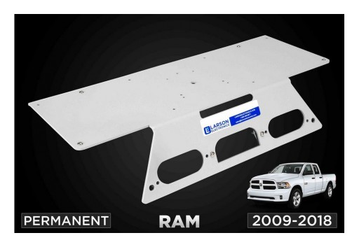 Larson Electronics Releases Permanent No-Drill Mounting Plate for 2009-2018 Dodge Ram 1500, 2500 & 3500 Trucks
