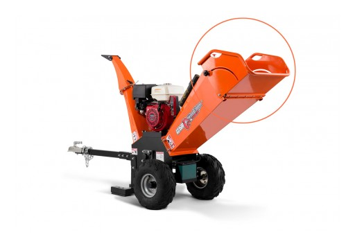 New Small Wood Chipper With Fold-Over Feeding Hopper Developed by Austter, China's Leading Small Wood Chipper Manufacturer