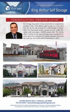 Closing Announcement for King Arthur Self Storage in Draper, Utah