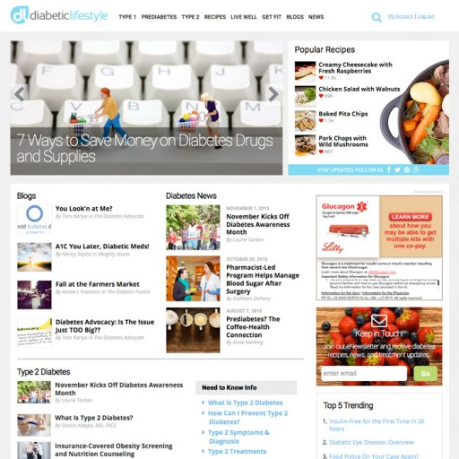 DiabeticLifestyle.com Relaunches During Diabetes Awareness Month; Expands Health Coverage and Advisory Board