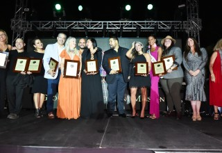 Dr. Allison Thompson, Violet Camacho and Omar Rosario with the Global Empowerment Mission Honorees.