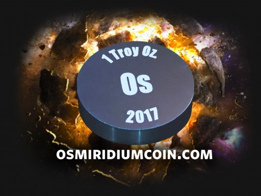 Osmiridium Coin Launching New Campaign to Make First 15,000 Limited-Edition, Collectors Coins