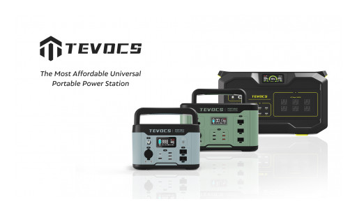 TEVOCS Announces Kickstarter Launch of the Most Affordable Universal Portable Power Station for Device & Home Backup Power