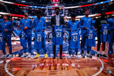 Orlando Magic players join L3Harris to honor fallen soldiers pregame