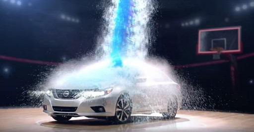 Dynamic Water and Confetti Effects for Nissan Altima Commercials Were Created by Special Effects Team at TLC