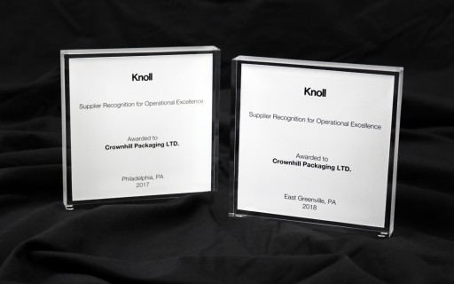 Crownhill Awarded Knoll Supplier Recognition for Operational Excellence