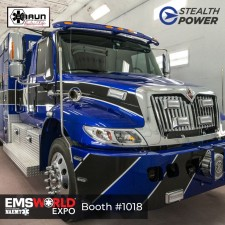 Stealth Power equipped Duke Life Flight ambulance at EMS World
