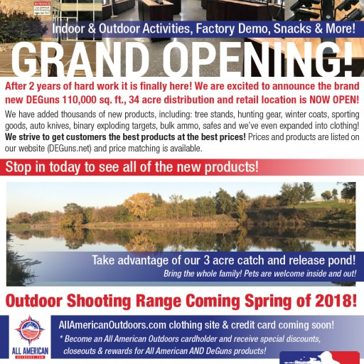 DEGuns Firearms and Sales Service Announces Grand Opening of Their New Retail Location