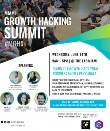 Lab Ventures Announces Miami's First Growth Hacking Summit June 14, 2017 at The LAB Miami
