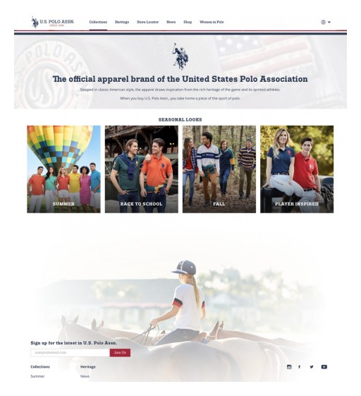 U.S. Polo Assn. Launches First Global Digital Site Reaching Over 100 Countries Worldwide