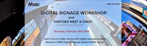 Mvix Hosts a Digital Signage Workshop for DC Metro System Integrators