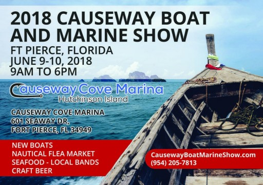 2018 Causeway Boat and Marine Show Sails Into Ft Pierce June 9-10