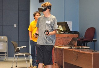 GenCyber Camper Nicholas Brengle Explores Virtual Reality