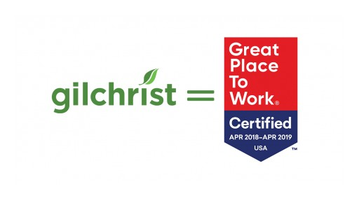 Gilchrist Named Great Place to Work