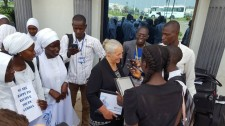 Youth for Human Rights International World Tour and President Dr. Mary Shuttleworth are welcomed to The Gambia.