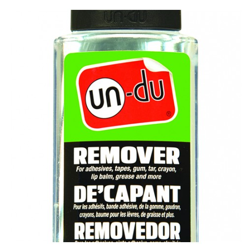 New VOC Compliant Un-Du Remover Provides Easy Removal for Self-Adhesive Products, Tapes, Labels, Adhesive Gunk, Grease, Oils and Gum.