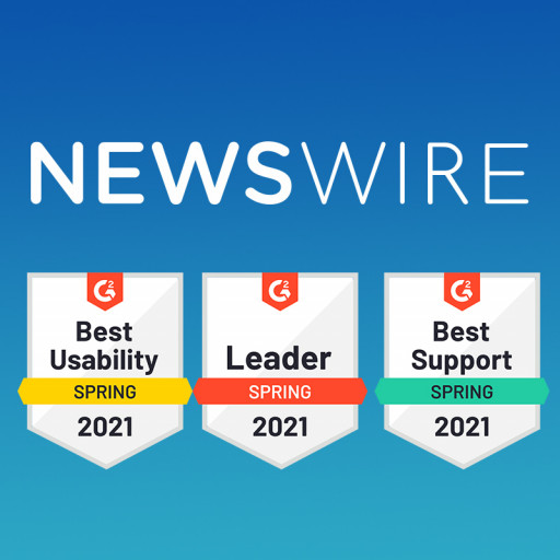Newswire Earns Number One Spot in G2.com's Small Business Report for Press Release Distribution