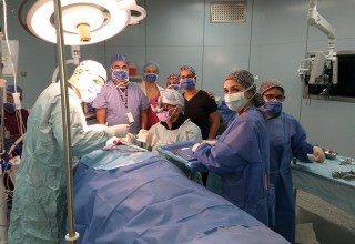 SAI surgical staff complete surgery