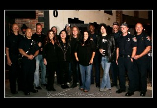 Dave Ellefson Grammy Award Winner, Jeffrey Manning, Fire Fighters and Police Officers in Las Vegas