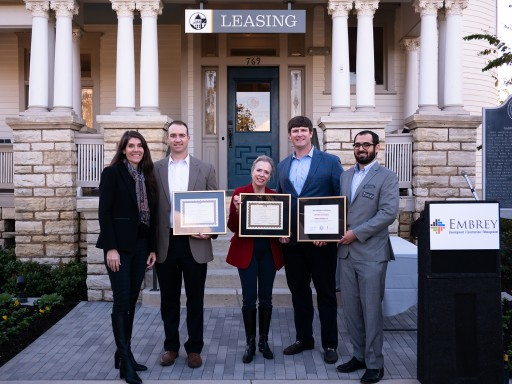 Embrey Partners Honored by the Texas Historical Commission and Historic Fort Worth for Its Renovation of Historic Garvey-Viehl-Kelley House