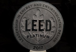 HARC's LEED Platinum Plaque