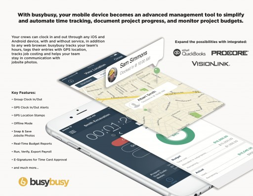 Mobile Time Tracking for Builders With busybusy at NAHB International Builders' Show