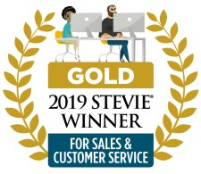 2019 Gold Stevie Award for Sales & Customer Service
