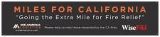 Miles for California Banner